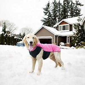 LIVACASA Hundejacke Winter Wasserdicht Hundemantel Warm Karierte Wintermantel Winterjacke f/ür Hunde Regenmantel Gepolstert Hundeweste Reflektierend mit Bauchschutz Leineloch Mittlerer Gro/ßer Hunde