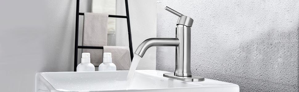 faucet bathroom brown