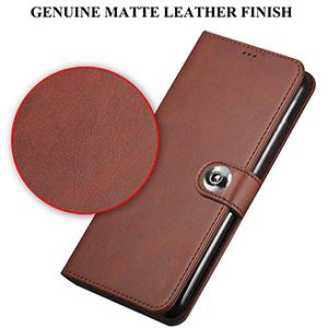 Genuine Matte Leather Finish