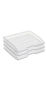 Acrimet Letter Tray Side Load Clear Crystal