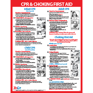 CPR amp; Choking First Aid Poster