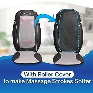 vibration massage on back massager seat