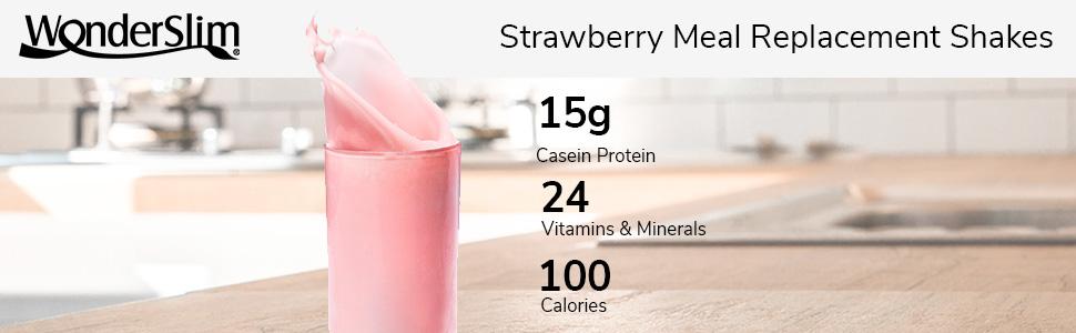 WonderSlim Strawberry Meal Replacement Shake