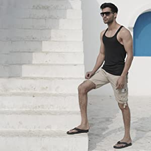 travel friendly, stylish and comfortable flip flops for men