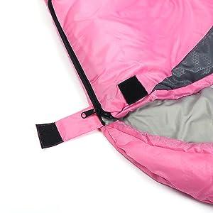 Sleeping bag sticker