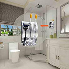 Toothbrush Holder Wall Mounted 3 Holes