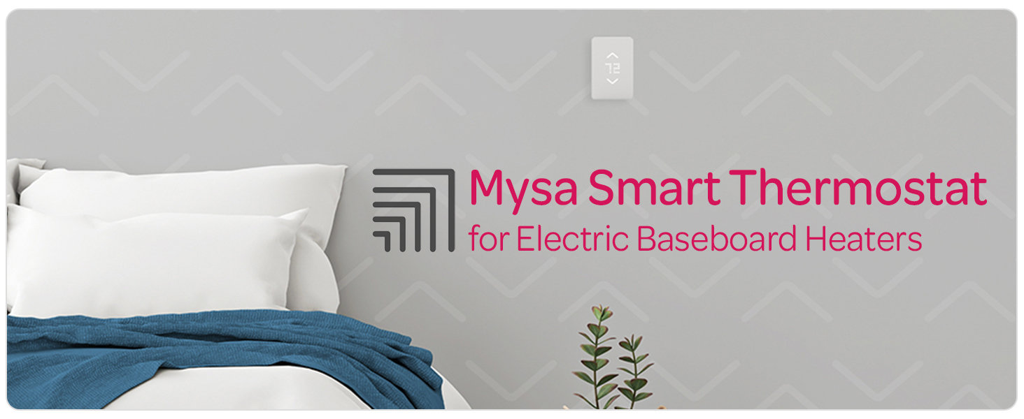 White New 2020 Sealed Box Mysa Smart Thermostat for Electric Baseboard Heaters