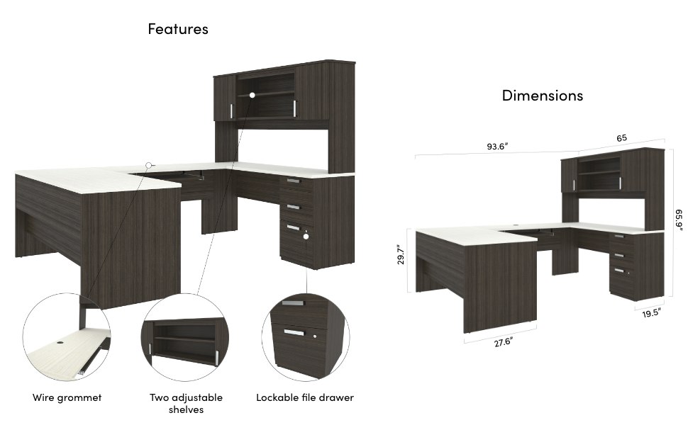 Specifications for the desk
