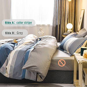 100% 400TC microfiber blue brown grey beige Bohemia duvet cover king queen bedding sets pillowcases