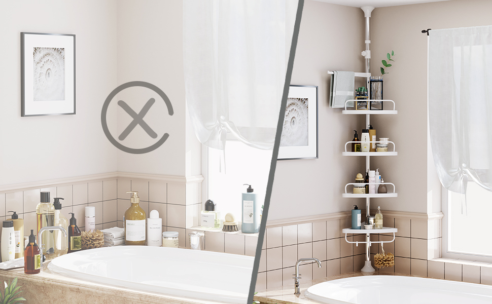 Telescopic Bathroom Corner Shelf