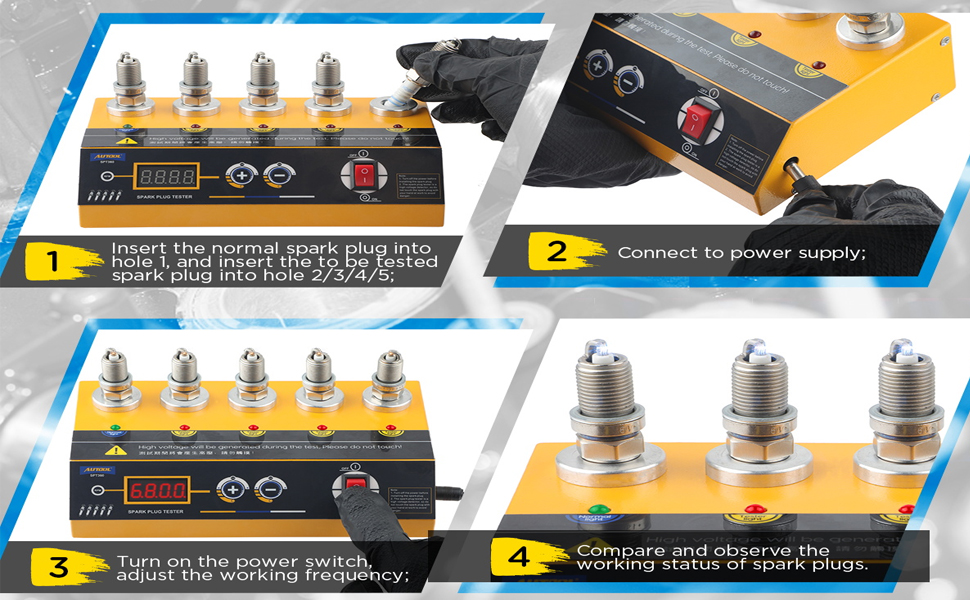 Spark Plug Tester - Engine Ignition Coil Tester Kit In Line Diagnostic Detector Tool for Automotive