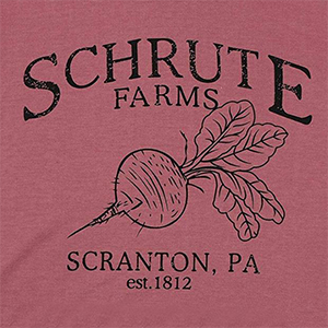 KIDDAD Women Schrute Farms Print Hoodie Pullover Sweatshirt Letter Graphic Tees Long Sleeve Tops Funny T-Shirt with Pockets