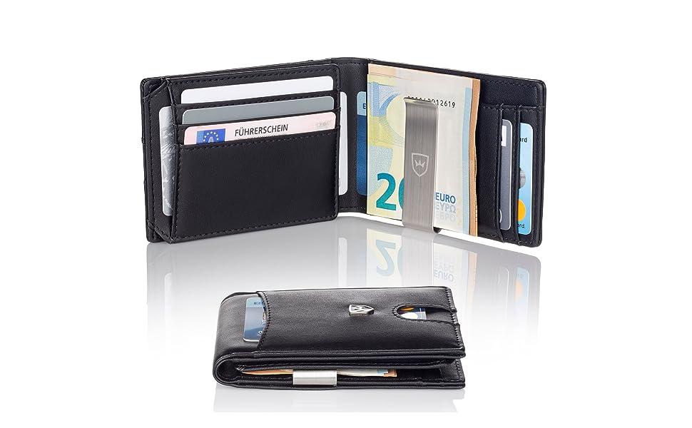 Premium Geldbörse mit Geldklammer von KRONENSCHEIN