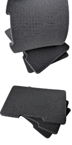 pick and pluck foam case sheets 2 inch a019 block small large desert tan cedar mill firearms insert