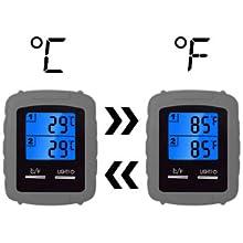 Fahrenheit and Celsius readings
