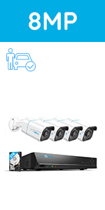 800B4 security camera system person/vehicle detection