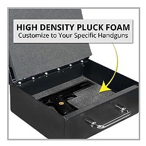 Stealth Handgun Safe High Density Pluck Foam