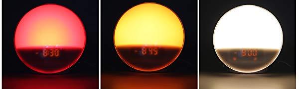 Light alarm clock wake up light sunrise sunset.