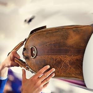 Genuine Travel Duffel Bag Waterproof Overnight Bag Leather Weekend Oversized Carry on Handbag