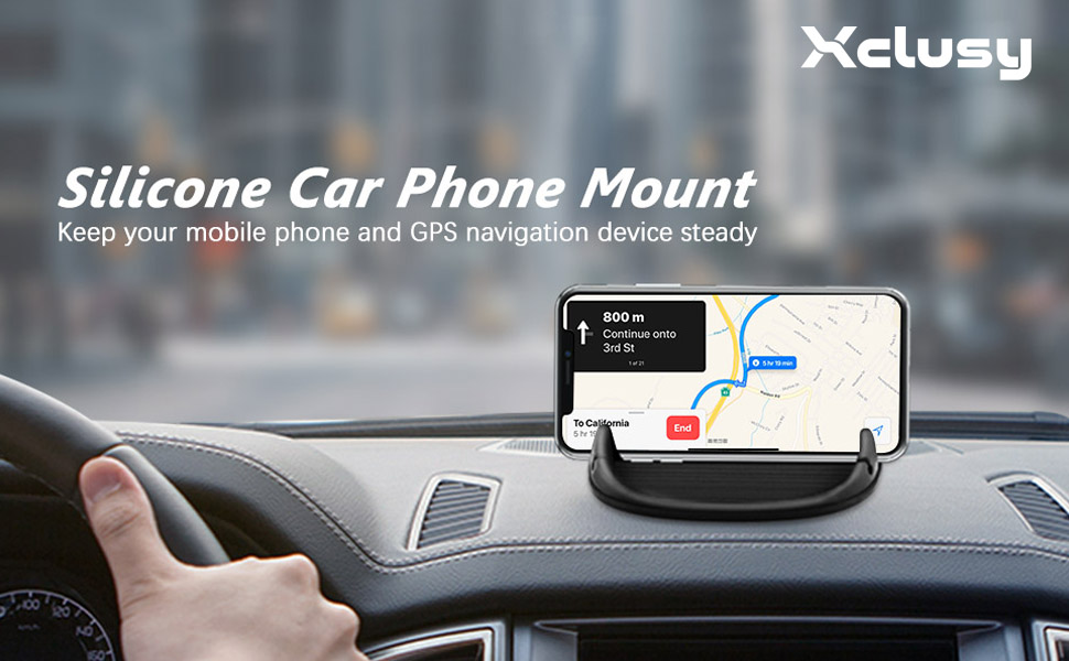 xclusy silicone car phone mount keep your mobile phone and gps navigation device steady