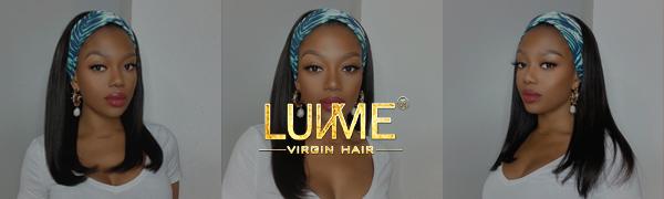 LUVME HAIR HEADBAND WIG LOGO