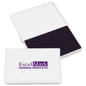 """ExcelMark Ink Pad for Rubber Stamps 2-1/8"""" by 3-1/4"""" - Blue"""