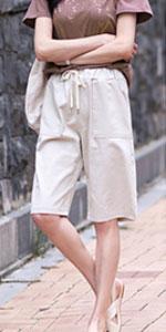 casual drawstring shorts for women womens shorts plus size knee length shorts for women linen shorts