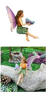 fairy garden miniature fairies girl sitting outdoor indoor tiny small butterfly