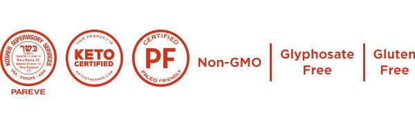 powder grass-fed pasture-raised paleo kosher keto non-gmo glyphosate gluten free