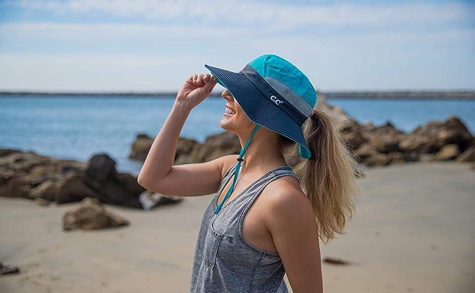 ponytail sun hat