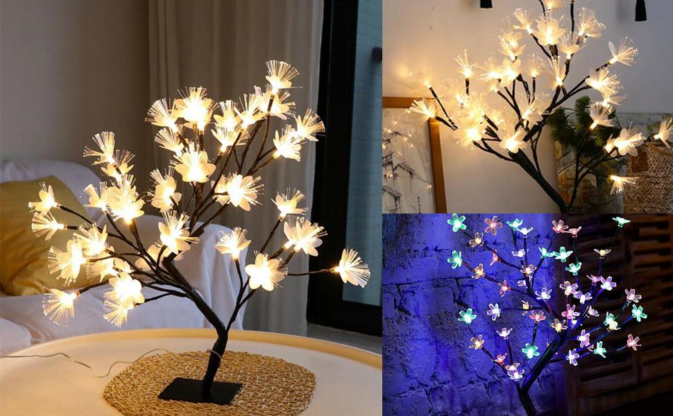 48 LED Tree Lights 45cm Cherry Blossom Tree Light