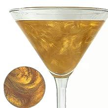 gold cocktail glitter, cocktail sparkle, cocktail glitter, cocktail garnish, cocktail decorating