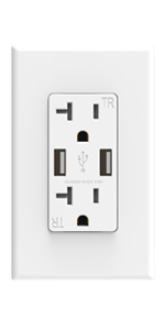 Electrical wall usb wall outlet socket