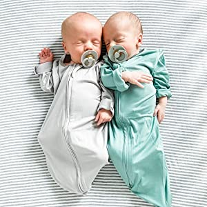 Twins in gown