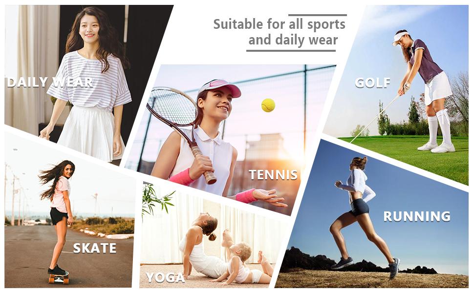 Women's Athletic Skort Lightweight Quick Dry Shorts Breathable Running Tennis Golf Workout Skirt