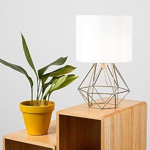 MiniSun - Moderna Lámpara de Mesa Blanca – Innovadora Base de ...