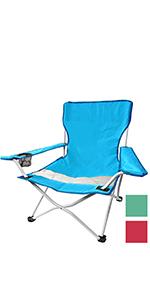 Wohaga Strandstuhl Campingstuhl Summer-Beach inkl Transporttasche Beachchair Klappstuhl Gartenstuhl Campingm/öbel Gartenm/öbel Farbe:Blau