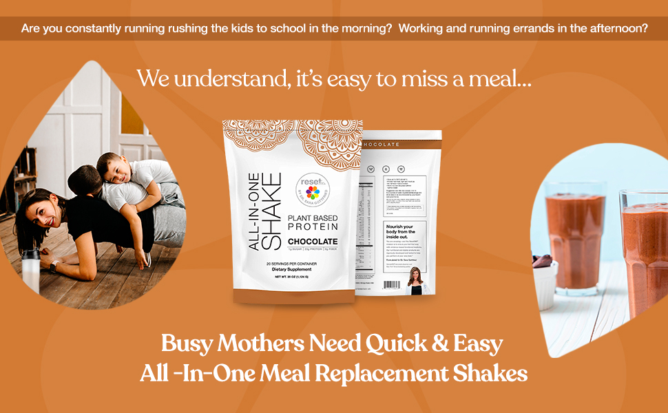 busy mothers need quick and easy all in one meal replacement shakes