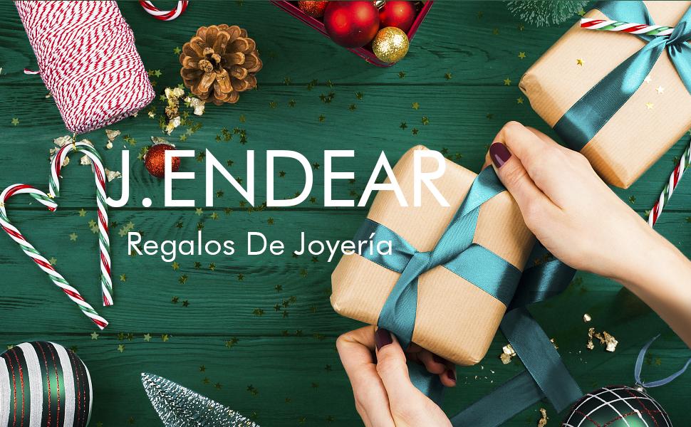 regalo de Navidad Pendientes Inicial letra Plata de Ley 925 Joyería