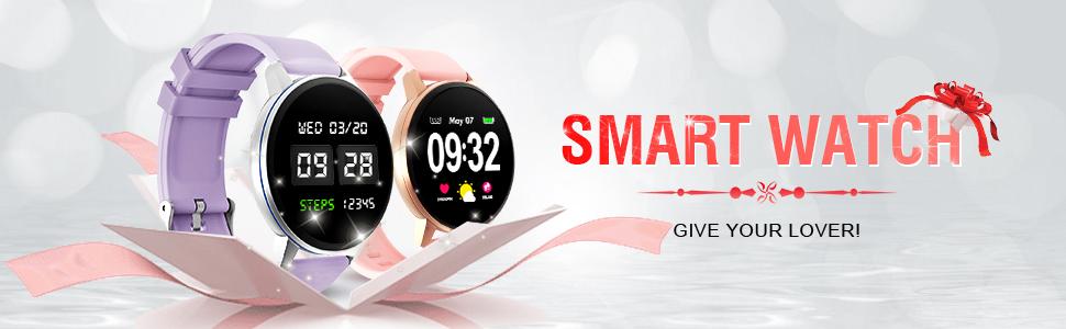 Smartwatch Deporte para Mujer Hombre con Pantalla Completa Táctil Monitores de Actividad Impermeable Outdoor Fitness Tracker con Monitor de Sueño ...