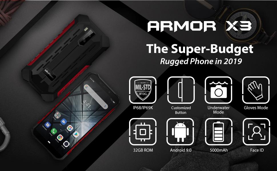 Ulefone armor x3 rugged smartphone