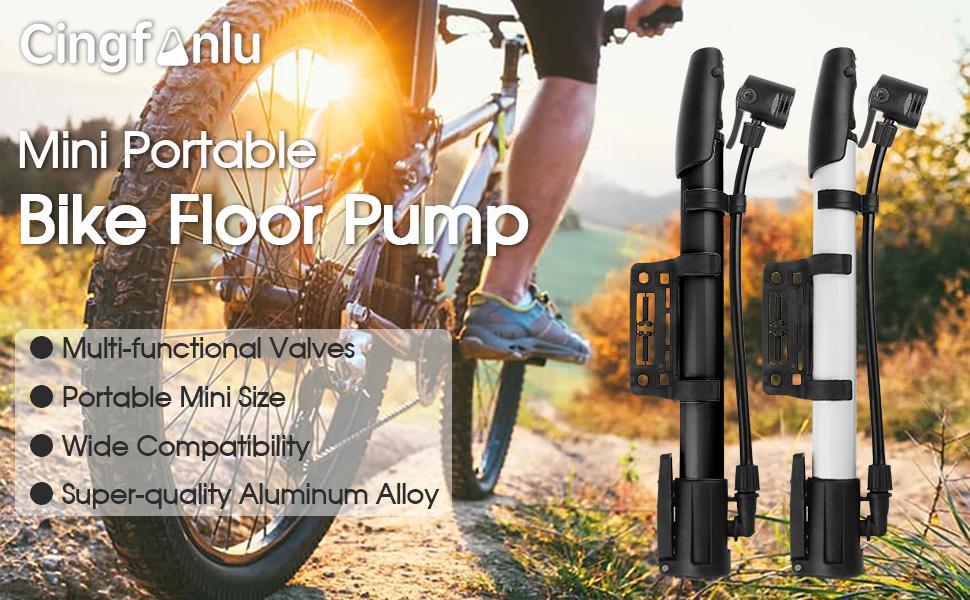 Portable Mini Bike Manual air Pump 120 PSI Spherical tire air Pump Aluminum Alloy high Pressure Bicycle Mountain Bike Mountain Bike Pump Sports Ball and Inflatable Toy Pump Bicycle Pump