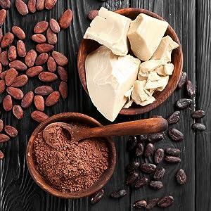 Cocoa butter lip balm, nourishing lip tint