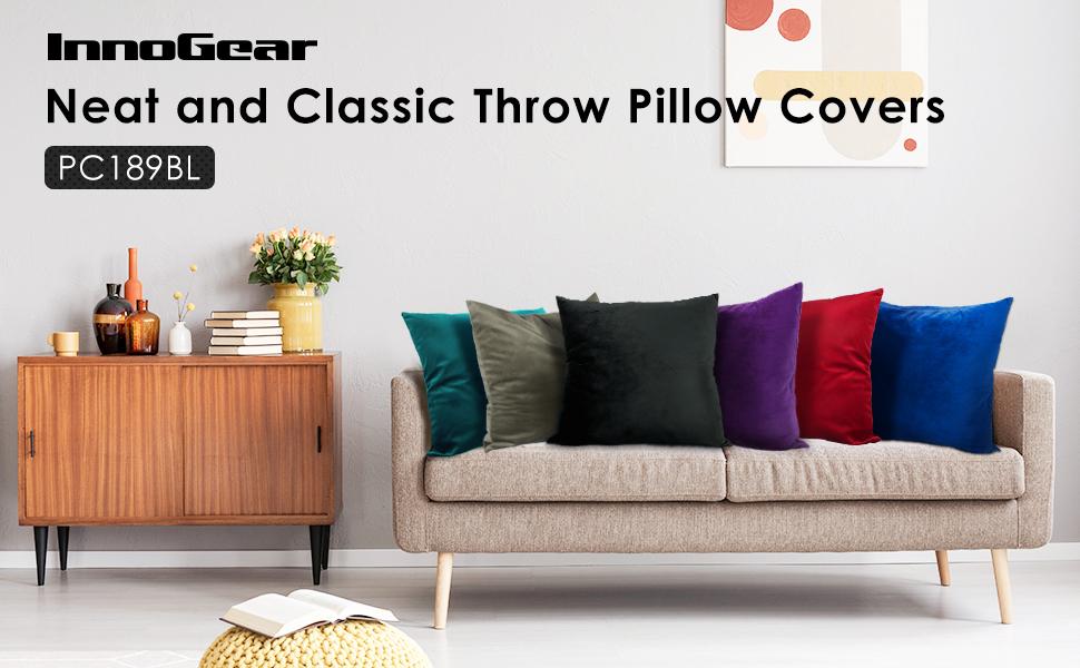 Velvet Throw Pillow  Covers