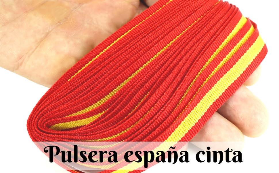Lazo Bandera españa Pulsera españa tela Cinta españa para Pulsera españa Cinta bandera españa para pulseras Bandera españa lazo: Amazon.es: Hogar