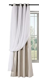 TWOPAGES Mix and Match Grommet Curtain