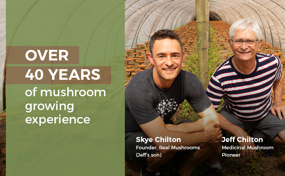 Real Mushrooms is backed by 40 years of mushroom growing experience to formulate potent supplements