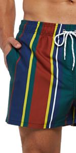 Men's Swim Trunks Slim Fit Quick Dry Printed Shorts