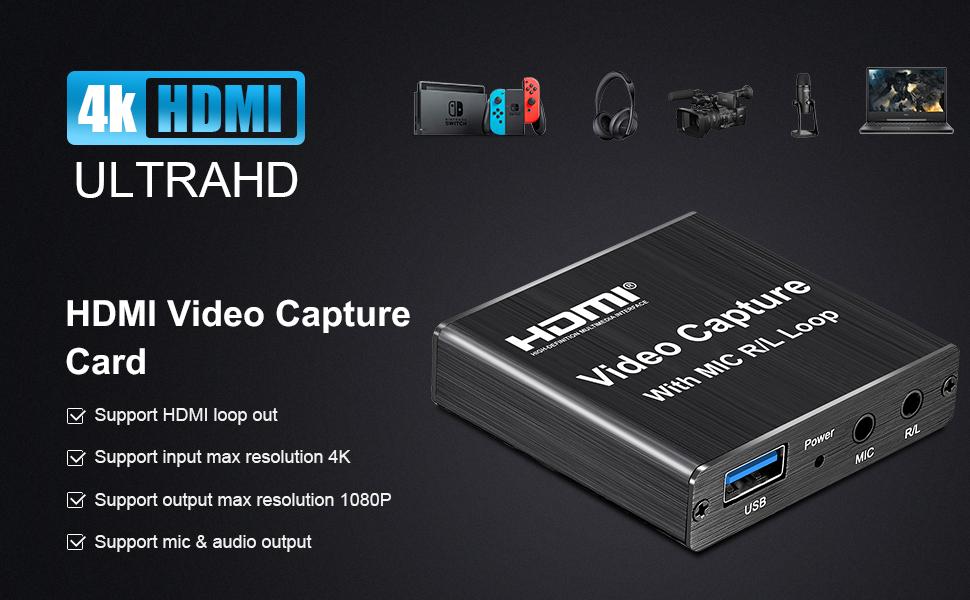 4K HDMI Capture Card