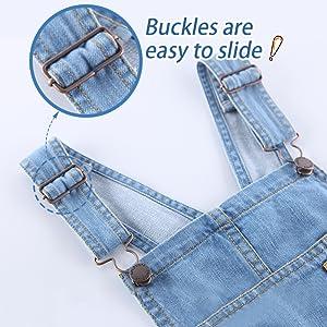 adjust buckle denim jeans